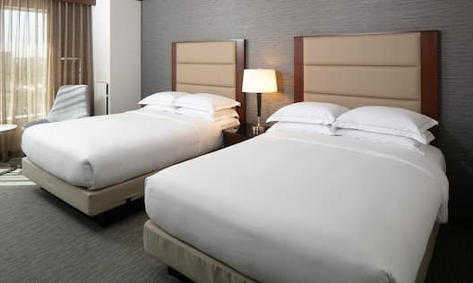 Hotel Guest Room with 2 Queen sized Beds