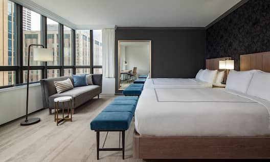 The Marquette Hotel, Curio Collection by Hilton, MN - Guestroom with Two Double Beds
