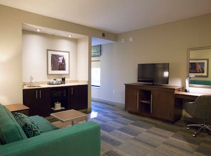 Guestroom with living space