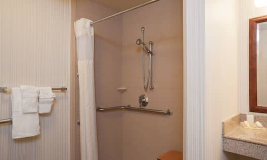 Accessible Guest Room Roll in Shower