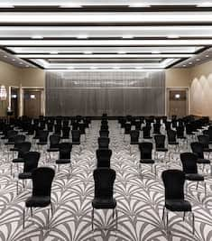 Black Chairs Setup in Ballroom for an Event