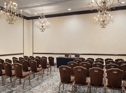 Meeting Room With Theater Set Up