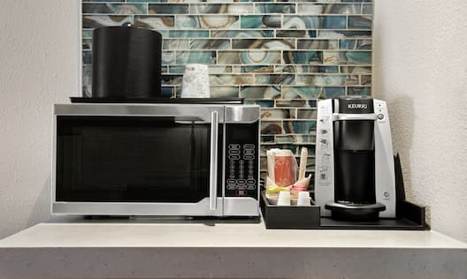 Standard Beverage Station with Coffee Maker and Microwave