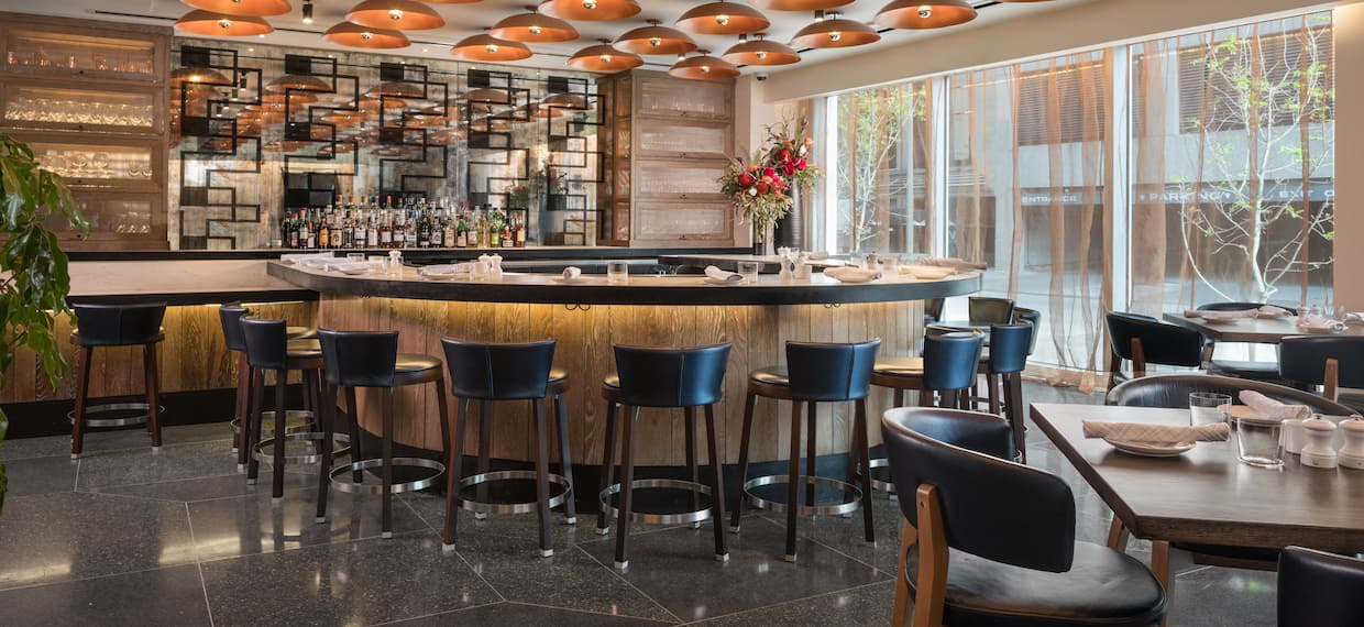 Hotel Bar And Dining Area
