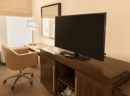 TV and Desk Area in Room