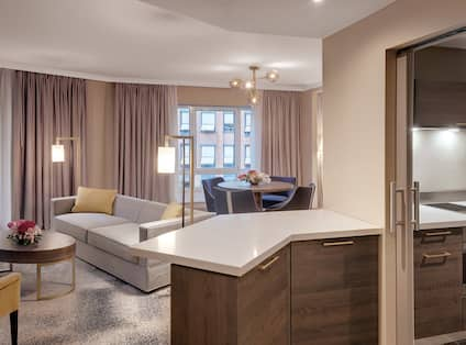 Executive Suite  with Kitchenette Area_along with Living and Dining Area