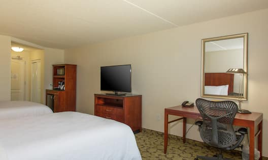 Guest Room with Two Queen Beds and Work Desk
