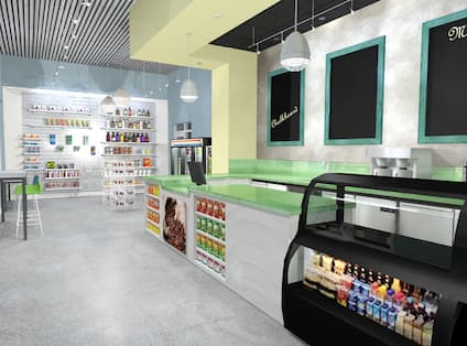 Modern Snack Area and Bar