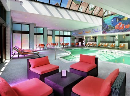 Indoor Pool with Comfortable Seating Area