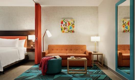 Studio Living Area with Sofa