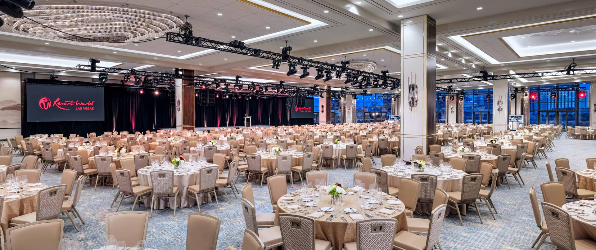Large Banquet Room Setup for an Event