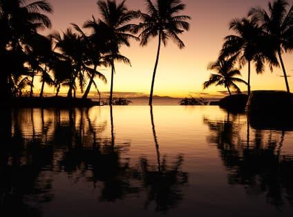 Sunset, Infinity Pool