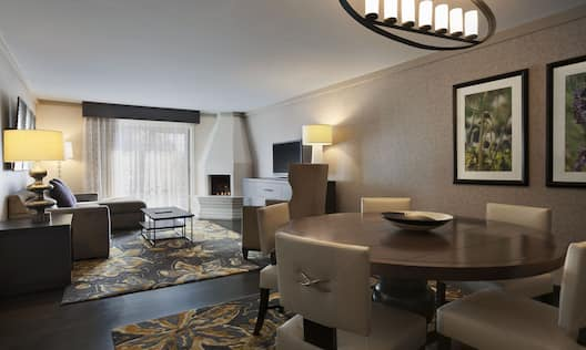 Presidential Suite Living and Dining Areas