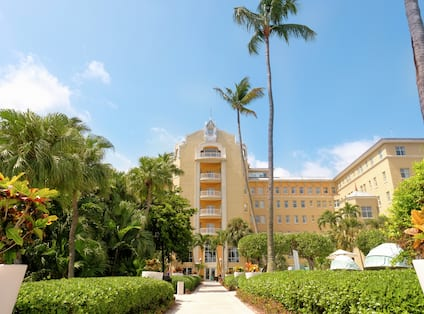 Exterior Hotel Views with Palm Trees