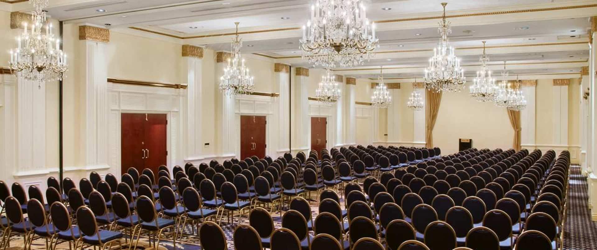 Spacious Ballroom Area with Rows of Seats