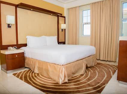 Guestroom with Bed and Outside View
