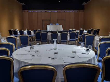 Gateshead Suite section with cabaret set up
