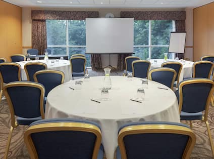 Small meeting room with cabaret set up