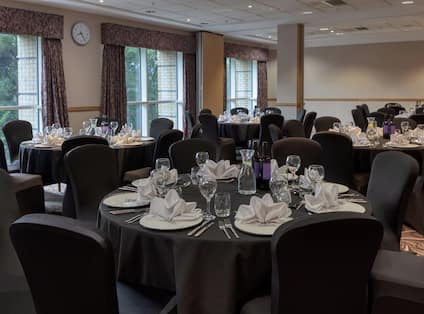 Meeting rooms combined in banquet set up