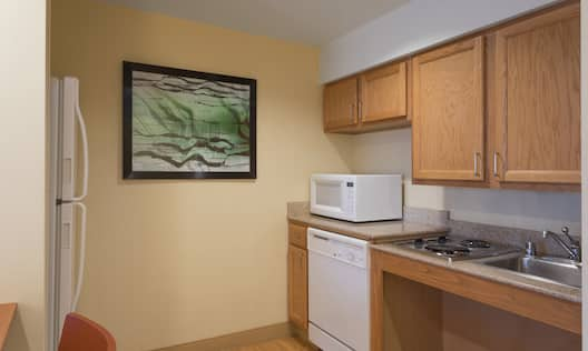 Accessible Suite Kitchen with Appliances and Sink Area