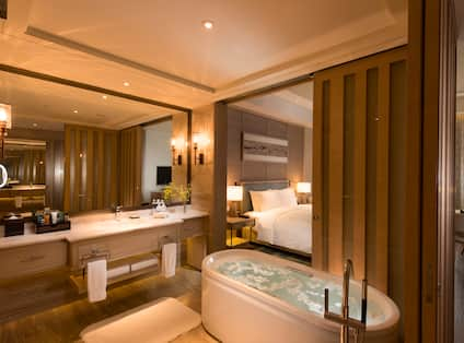 Hilton Yuxi Fuxian Resort Hotel, China - Standard Bathroom