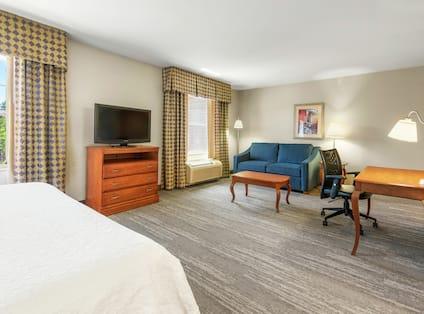 King Studio Suite Lounge Area and Work Desk
