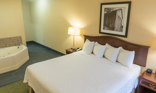 Suite Bedroom with King Bed and Tub