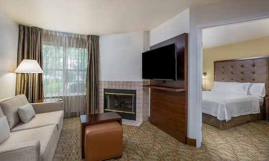 Suite with a Queen Bed and Fireplace