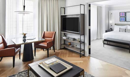 Luxury Suite Living Room and Separate Bedroom