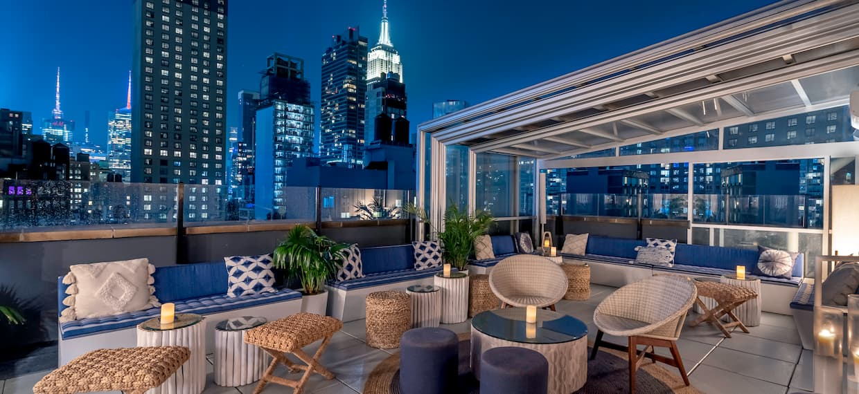 Terrace at Sandbar Rooftop with City View