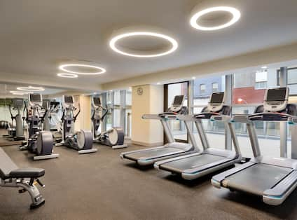 Fitness Center with Treadmills, Cross-Trainers and Weight Bench