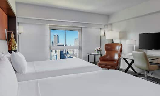 Two Double Bed Room with City View