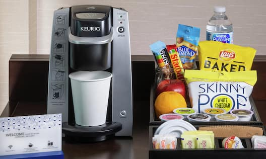 Premium Rooms Snacks and Coffee