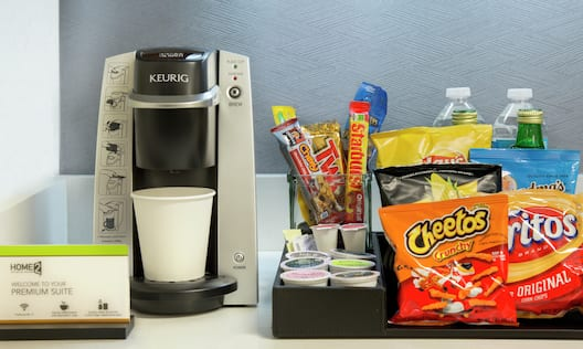 Guest In-Room Snacks and Coffee Maker