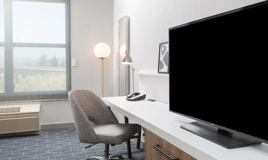 Accessible Guest Room Work Desk and Television