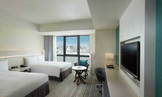 Twin Guest Room with City View, Beds