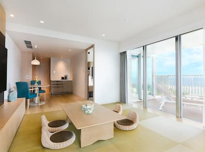 Suite Living Area with Ocean View