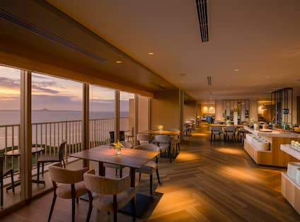 Dining Area at Sunset