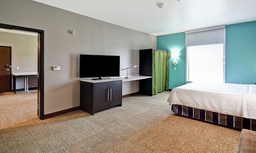 Guest Room with Bed and Television