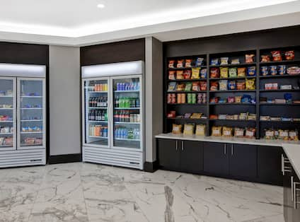 suite shop with an assortment of snacks and drinks