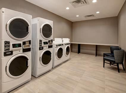 guest laundry with multiple machines