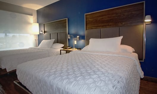 Two Beds in Hotel Guest Room