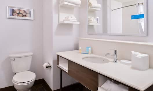 Guest Bathroom with Vanity and Toilet