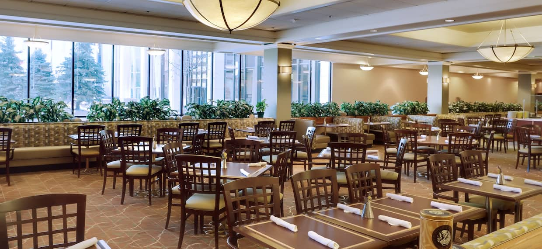 Dining Area and Windows in Signatures Restaurant
