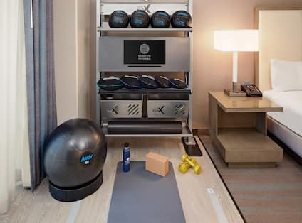 Fitness Equipment in Hotel Guest Room