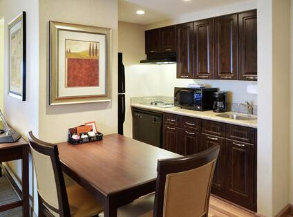 Guest Room Kitchen and Dining Area