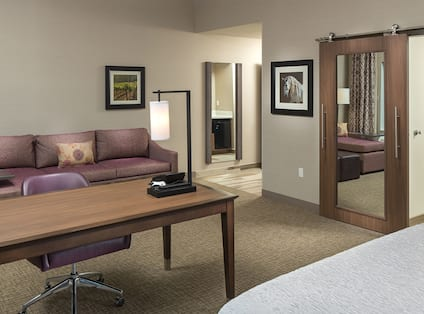 Accessible Guest Room with Work Desk, Sofa and Bed