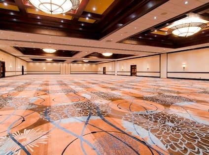 Spacious Empty Ballroom Area