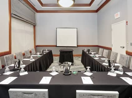 U-Shaped Table Meeting Setup