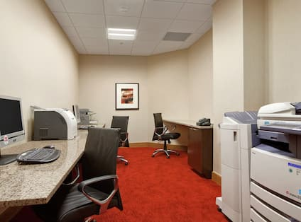 Business Center with PC's and Copier